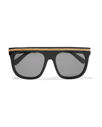 Stella McCartney Chain Embellished D Frame Acetate Sunglasses