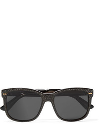 Crystal embellished square frame acetate sunglasses black medium 954375