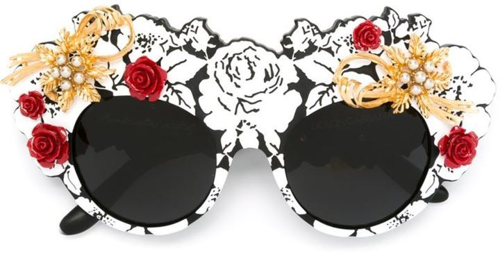 a20575a833f Mamas Brocade Limited Edition Sunglasses. Black Embellished Sunglasses by  Dolce   Gabbana