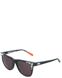Missoni Embellished Square Plastic Sunglasses Black