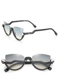 Fendi 52mm Embellished Semi Rimless Acetate Sunglasses