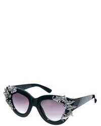 Asos Filigree Embellished Cat Eye Sunglasses Black