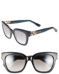 Jimmy Choo Maggi 51mm Crystal Embellished Sunglasses Dark Grey