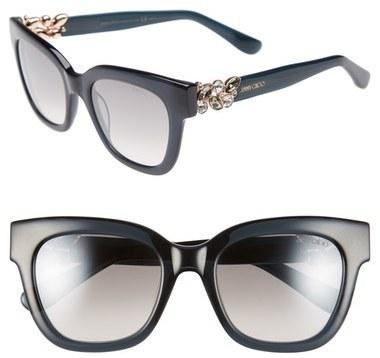 4eea3a1c3bd ... Jimmy Choo Maggi 51mm Crystal Embellished Sunglasses ...