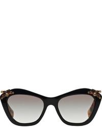 Miu Miu Eyewear Embellished Frame Sunglasses