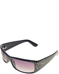 Nicole Miller Nicole By Solargenics Glam Rhinestone Embellished Wrap Sunglasses