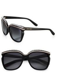 Jimmy Choo Oversized Crystal Embellished Sunglasses