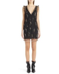 MSGM Imitation Pearl Embellished Tulle Dress