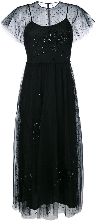 RED Valentino Red Valentino tulle embellished midi dress | Where to ...