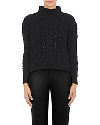 Bead embellished wool cashmere sweater medium 1158435