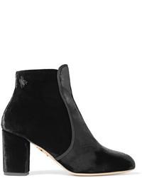 Alba embellished velvet ankle boots black medium 3723644