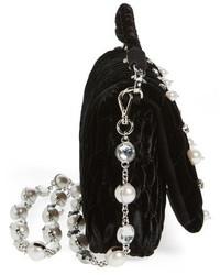 Miu Miu Velluto Crystal Embellished Crossbody Clutch