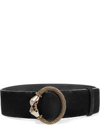 Lanvin Embellished Suede Waist Belt Black