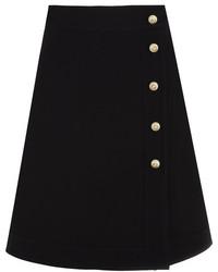 Gucci Embellished Wool And Silk Blend Mini Skirt Black