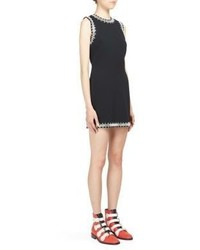 Givenchy Crystal Embellished Wool Sheath Dress