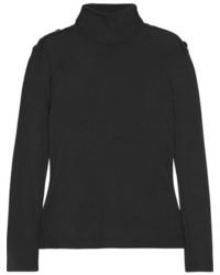 Embellished wool turtleneck sweater black medium 5258978