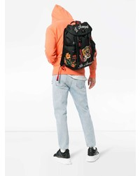 b6c0c475ee94 Gucci Black Tiger Embroidered Backpack, $1,893 | farfetch.com ...