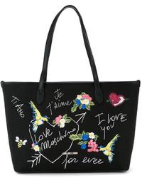 Love Moschino Bird Embroidered Shoulder Bag