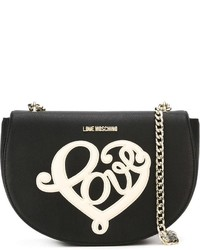 Love Moschino Chain Strap Embroidered Cross Body Bag