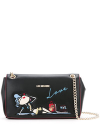 Love Moschino Doll Embroidery Shoulder Bag