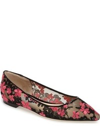 Jimmy Choo Romy Embroidered Floral Flat