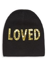 Gucci Loved Sequin Embroidered Wool Hat