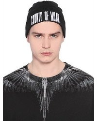Marcelo Burlon County of Milan Sajama Embroidered Wool Knit Beanie Hat