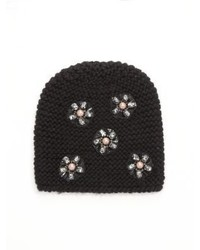 Jennifer Behr Mod Flower Embroidered Wool Beanie
