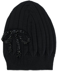 No.21 No21 Bow Embroidered Beanie Hat