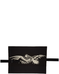 Ann Demeulemeester Black Embroidered Body Belt