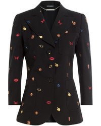 Alexander McQueen Embroidered Virgin Wool Blazer