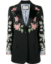 Gucci Floral Embroidered Blazer