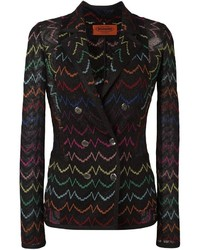 Missoni Double Breasted Embroidered Blazer