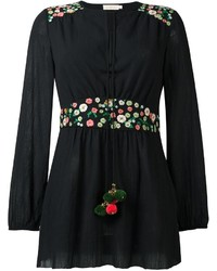 Tory Burch Floral Embroidery Detailing Blouse