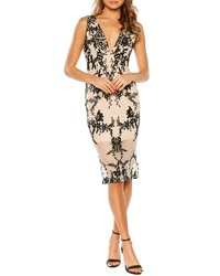 Bardot Embroidered Body Con Dress