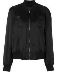 Alexander Wang Palm Embroidered Bomber Jacket