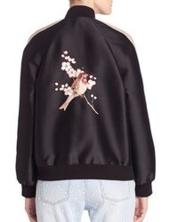4b0ddc7a1 $2,475, Stella McCartney Bird Embroidered Bomber Jacket