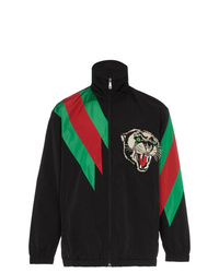 Gucci Embroidered Contrast Stripe Logo Track Jacket