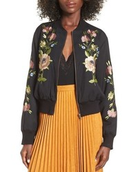 Floral embroidered bomber jacket medium 740410