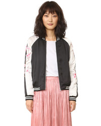 Mckay embroidered bomber jacket medium 845579