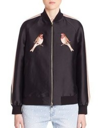 Stella McCartney Bird Embroidered Bomber Jacket