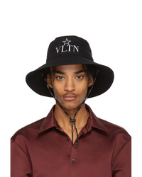 Valentino Black Garavani Vltn Star Bucket Hat