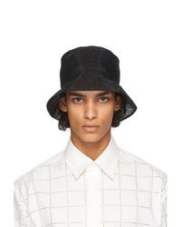 Fendi Black Mesh Logo Bucket Hat