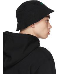 Palm Angels Black Miami Logo Bucket Hat