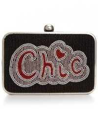 Franchi Chic Beaded Minaudiere Clutch