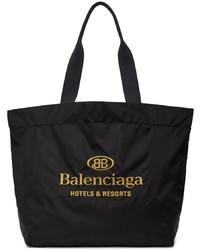 Balenciaga Black Large Resorts Tote