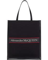 Alexander McQueen Black Red Selvedge Tote