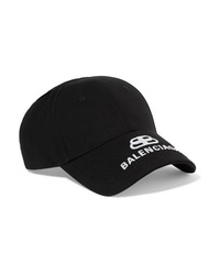 Balenciaga Embroidered Cotton Twill Baseball Cap