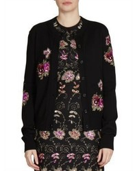 Givenchy Embroidered Crewneck Cardigan