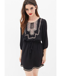 Forever 21 Embroidered Peasant Dress